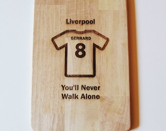 Liverpool Chopping Board Fans Dad Son Grandad Gift Cheese