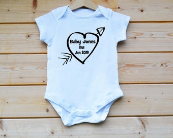 Personalised BabyGrow, Any Name and Date  BabyGrow, Hand Made, Baby Suit, Baby Vest, Baby Gift Designed by FlolliePopDesigns