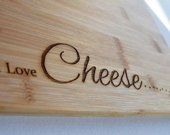 Cheese Board for Cheese Lovers, Bamboo Wood Chopping Board - Cutting Board