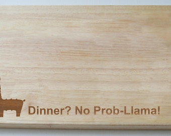 Llama Chopping Board, Engraved Wedding Gift, Llama House Warming Chopping Cheese Board