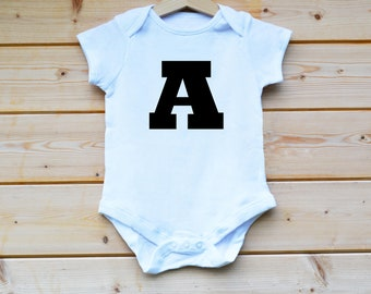 Personalised Any Letter BabyGrow,  Any Name Baby Grow, Baby Vest, Baby Shower, 1st Xmas Gift, Baby Suit, Baby Vest, Baby Gift