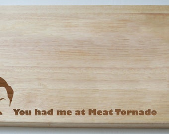Ron Swanson Parks and Recreation, Engraved onto Chopping Board
