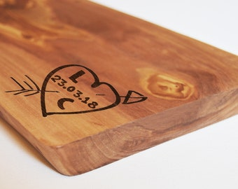 Personalised Wedding Gift, Anniversary Gift - Wood Chopping Board - Cutting Board - Custom Made - Cheese Board - Olive Chopping Board