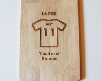 Manchester United Chopping Board Man Utd Fans Dad Gift Cheese