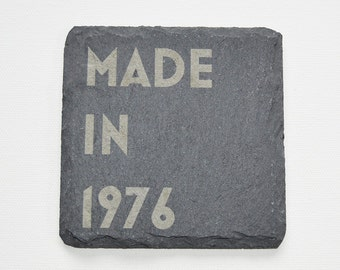 Personalised Engraved Slate Coasters, Personalised Slate Coasters, Made in Custom Coasters, Slate Tiles Birthday Gift, House Anniversary