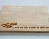 Star Trek Engraved Wood Chopping Board, To Boldly Go Quote, Cheeseboard, Star Ship Enterprise, Birthdays, Trekkie, 2 SIZES