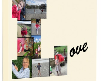 Photo Any Name Word Collage Canvas