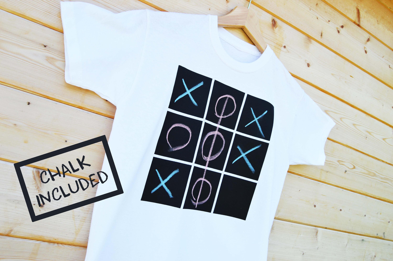 Chalk Your Own T-Shirt, Screen Printed Chalk Board T-Shirt, Kids ...