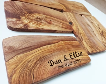 Olive Chopping Board, Personalised Engraved Solid Olive Board, Bulk Order, Logo Engraved, Chopping Cheese Board, Wedding Gift,