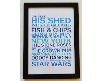 Personalised Likes Poster, Word Art Poster, Likes Print, Custom Likes, Teachers Leaving Gift
