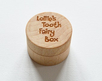 Personalised Tooth Fairy Box Professionally Engraved, Wooden Tooth Fairy Box, Tooth Holder, Tooth Pillow, Tooth Fairy Gift, Childrens Gift
