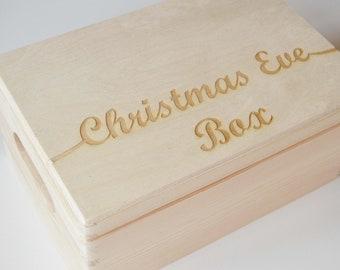 Christmas Eve Box, Childrens Box, Gift Box, Wooden Toy Box, Keepsake Box, Xmas Eve Wooden Box, Surprise Box