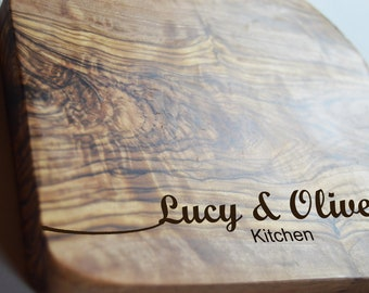 Olive Kitchen Chopping Board, Personalised Engraved Solid Olive Board, Bulk Order, Logo Engraved, Chopping Cheese Board, Wedding Gift,