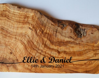 Wedding Gift Personalised Olive Wood Chopping Board