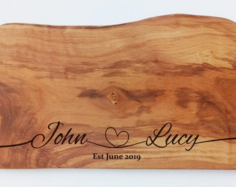 Personalised Wedding Gift, New Home Gift, Anniversary Gift - Olive Chopping Board - Cutting Board - Custom Made - Cheese Board