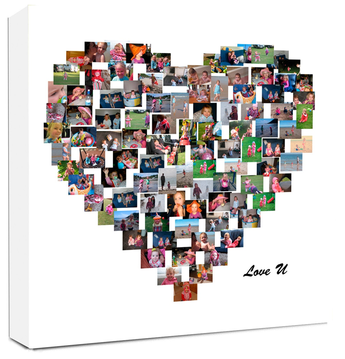 Ready to hang Personalised Framed Canvas Collage Print Photo Image Picture
