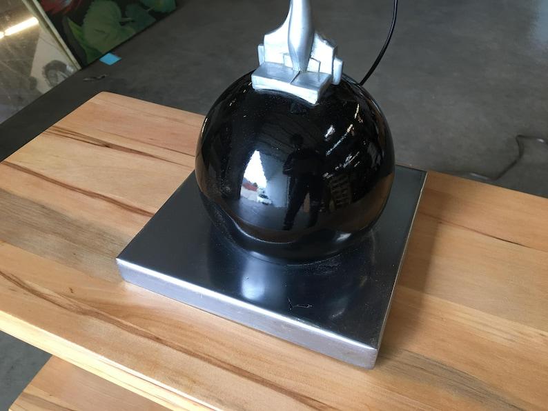Frankart Style Silvertone Nude Table Lamp