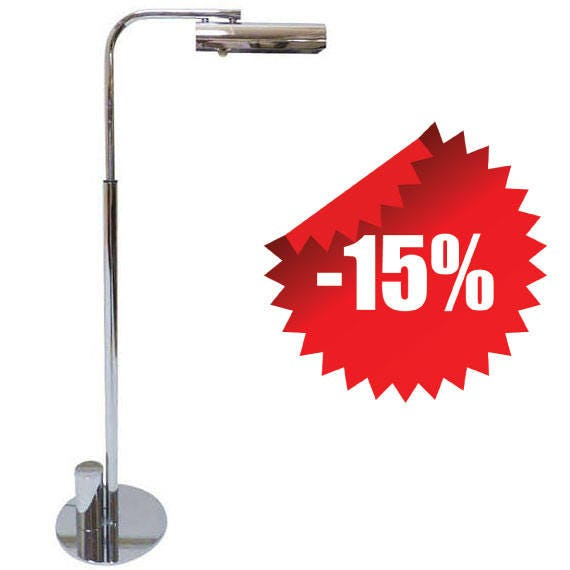 Mid Century Reading Lamp: Mid-Century Chrome Ball Line Reading Lamp By