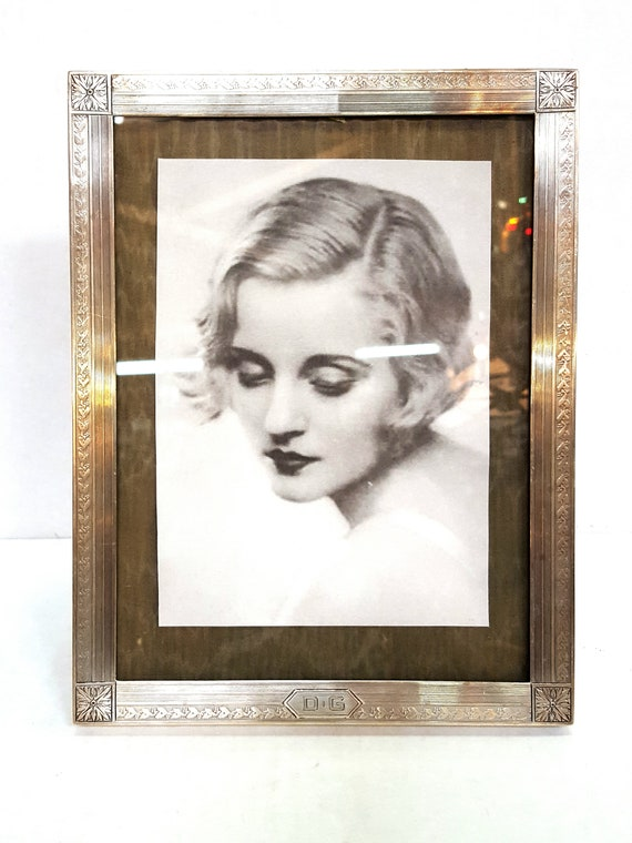 Antique Art Deco Sterling Silver Picture Frame With Vintage Etsy