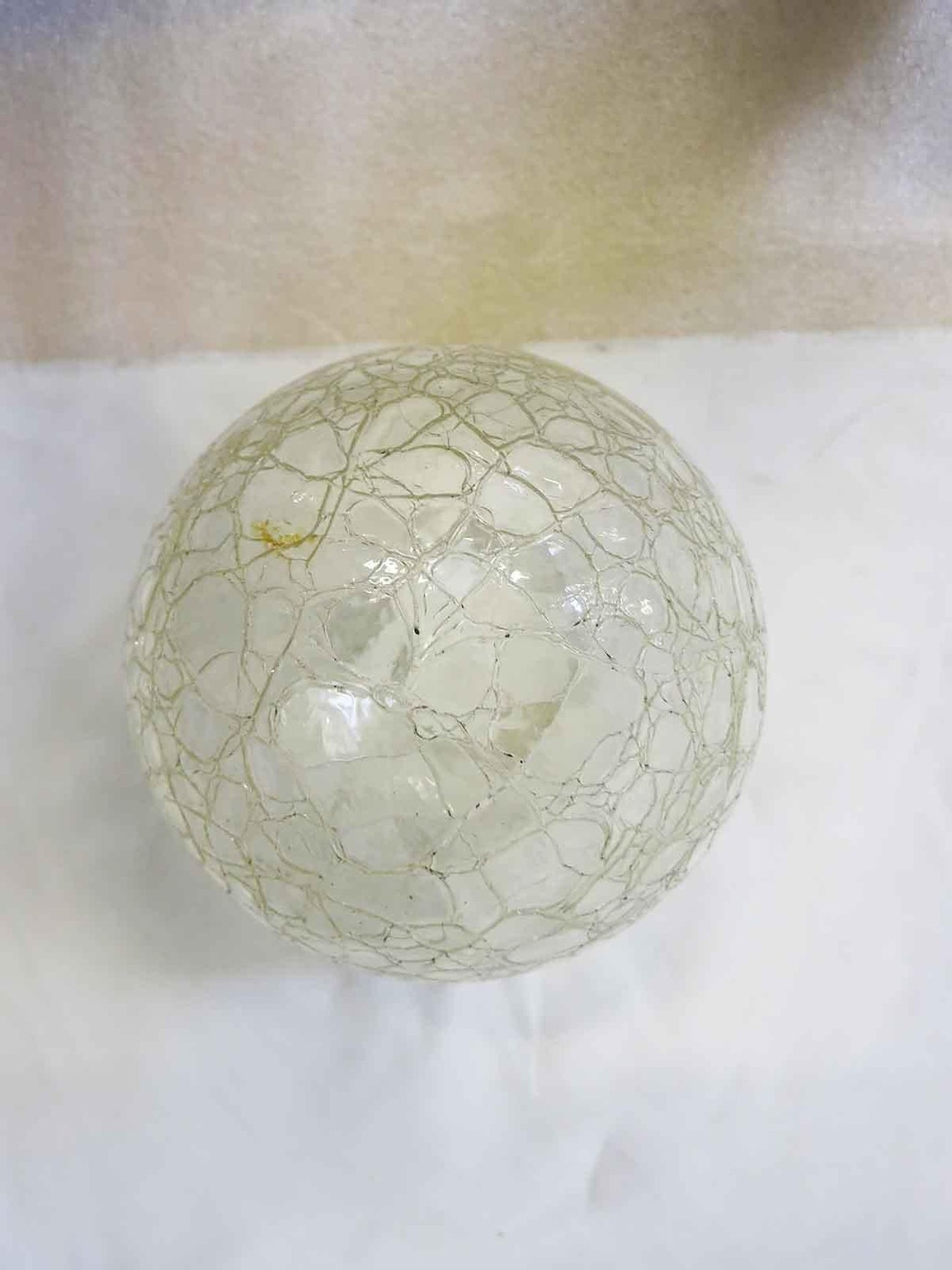 Small Vintage Crackled Ceiling Glass Globe Pendant