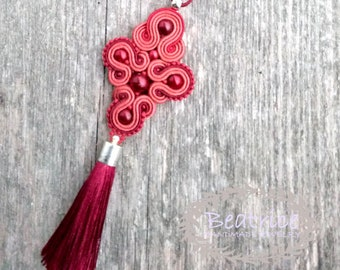 Pendant soutache with tassel