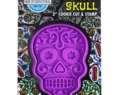 Sugar Skull Cookie Cut Stamper 3 39 39 Day of the Dead