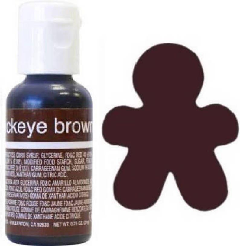 Chefmaster Liqua-Gel Food Coloring: Buckeye Brown Chocolate .75 oz Icing 20g