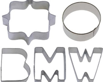 5 Piece BMW Auto Cookie Cutter Set