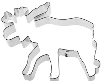 Moose 5''  Cookie Cutter  Cabin Theme Metal