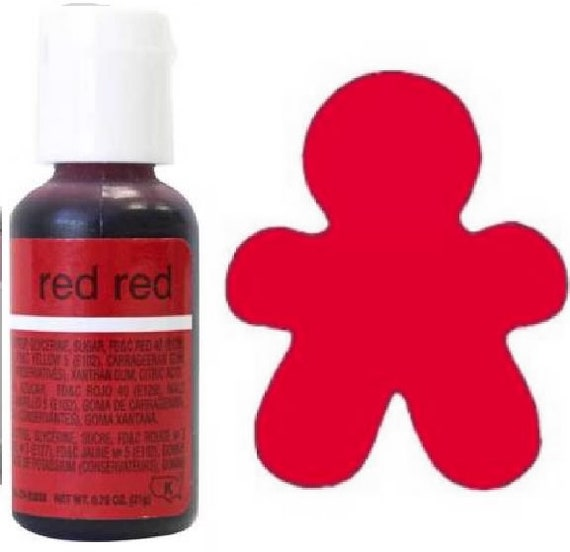 Chefmaster Gel Paste Food Coloring: Super Red 3/4 .75 oz | Etsy