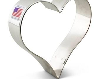 Heart 3 5/8'' Cookie Cutter