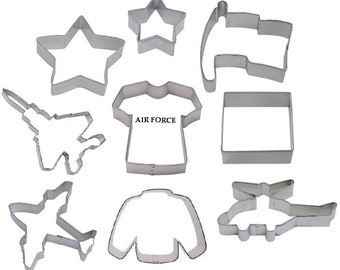 9 Piece Air Force Military Cookie Cutter Set