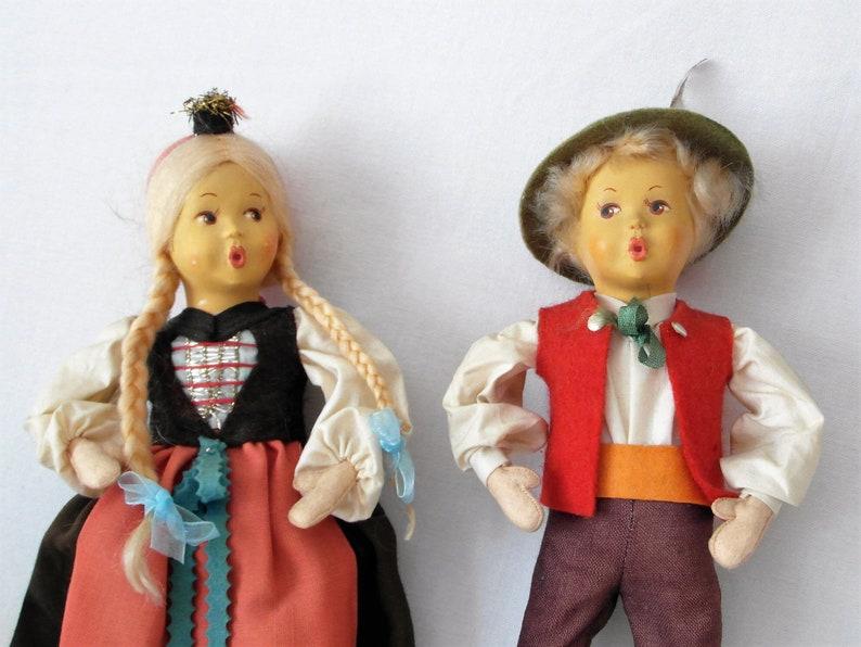Poupées Anciennes Provided Ancienne Petite Poupée En Costume Traditionnel Vintage 1950 For Fast Shipping