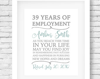 Retirement quote - Retirement gift - Retirement party poster - Retiree gift- Retirement printable
