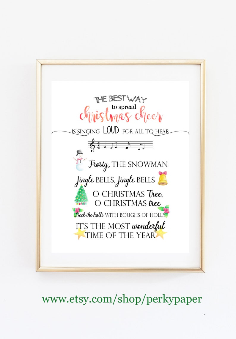 image relating to Printable Christmas Songs known as Xmas audio printable, Xmas print, Xmas tunes, Jingles Bells, Frosty, The Snowman, Xmas decor, Do it yourself Xmas decor