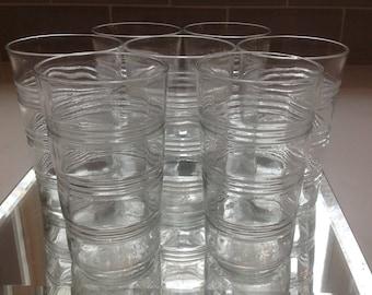 Antique Juice or Bar Glasses - set of 7