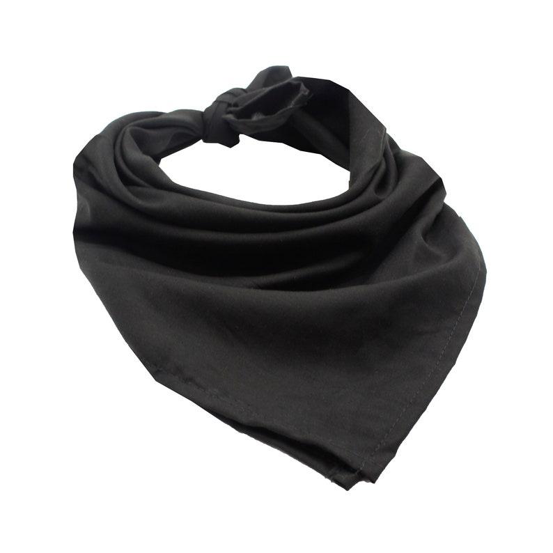 Face Cover USA Made in Hawaii Super Soft Scarf Small Medium XL Solid Black Solid Colors Bandana Dog Bandana