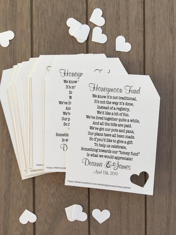 e9de18dd4cd Honeymoon Fund Invitation Insert for Bridal Shower or Wedding