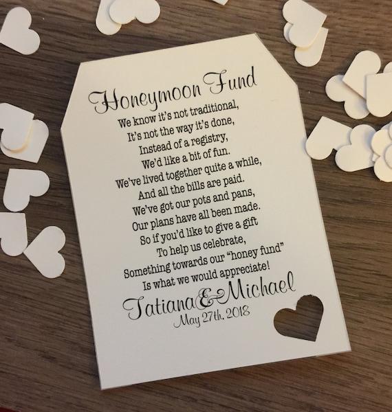 Honeymoon Fund Invitation Insert For Bridal Shower Or