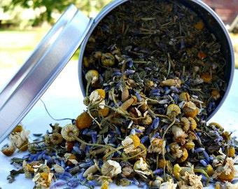 Calming Herbal Tea - Relaxing Loose Leaf Tea - Boondock Enterprises - All Natural Floral Herbal Tea - Caffeine Free Herb Tea - Hostess Gift
