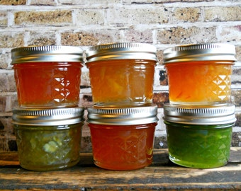 Citrus Marmalade Sampler Box - Six (4 oz) Assorted Marmalade Flavors - Jam Basket - Jelly Gift Box- Jam Lover's Gift - Boondock Enterprises