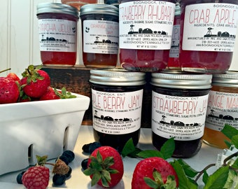 Jam of the Month Club - Homemade Jam Subscription for (3)(6) or (12) months - Two (8 oz) Jars each Month