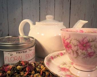 Floral Fantasy Herbal Tea - Nutritional Loose Leaf Tea -All Natural Herbal Tea - Boondock Enterprises - Floral Herb Tea - Gift for Tea Lover