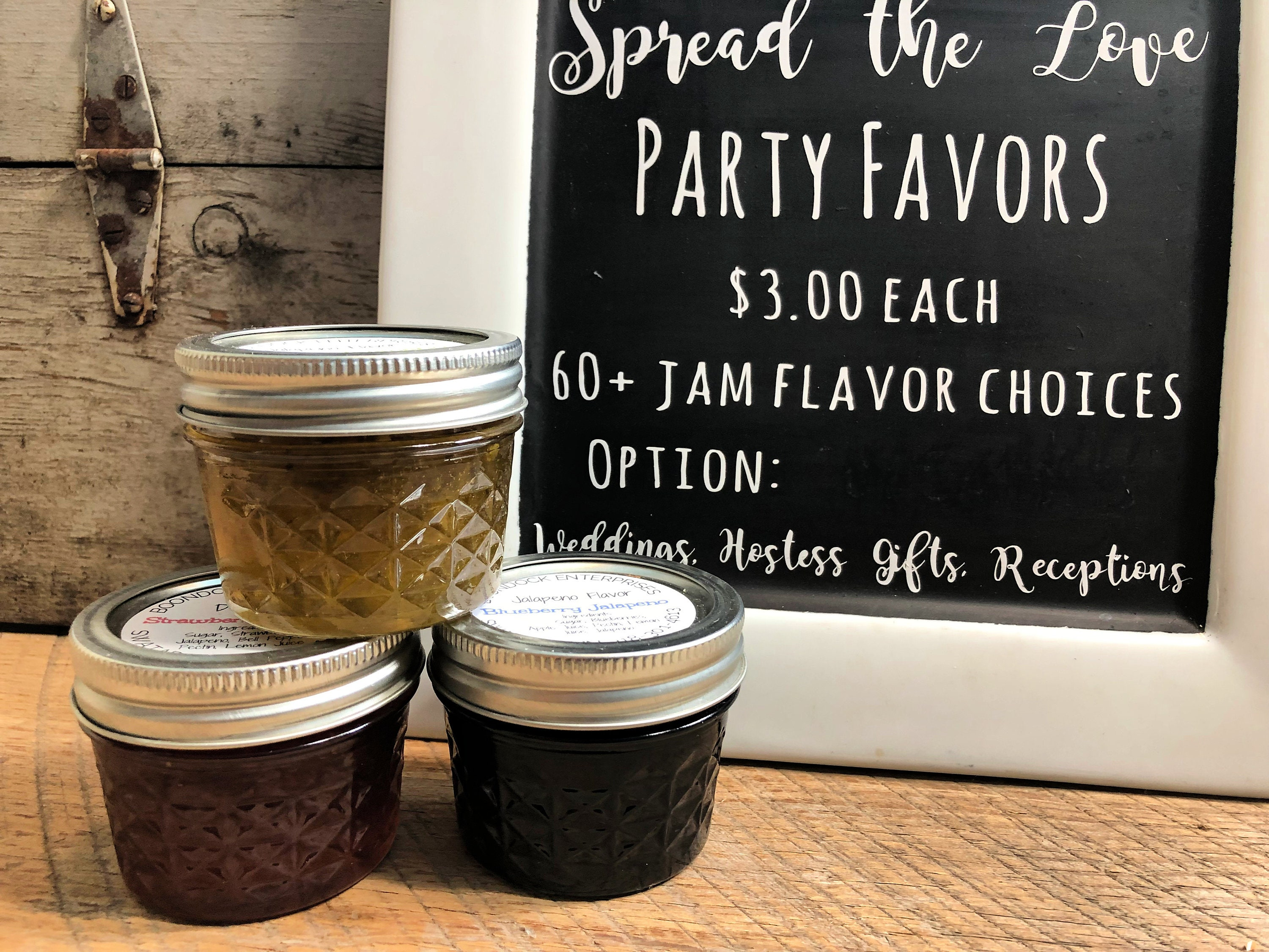 Jam Party Favors Bridal Wedding Or Baby Shower Spread