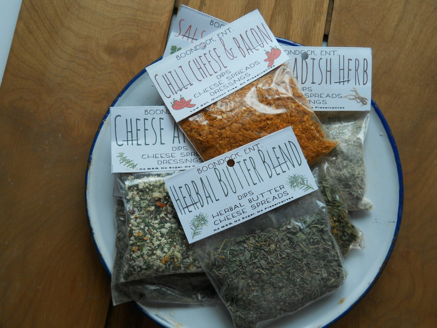 Dried Herb Dip Mixes All Natural Seasoning Mix Gluten Free