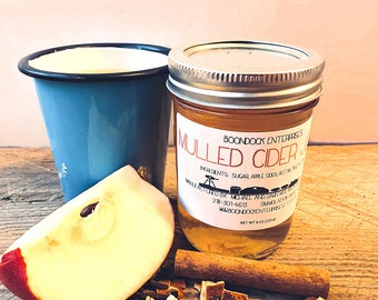 Mulled Cider Jelly - Unique Artisan Jelly in 8 oz Jar - Available October through December - Homemade Gifts From our Farm to Your Table
