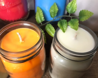 Hand Poured Soy Candle - Choose Your Scents - American Soy Wax - 16 oz Jar Candle - Aromatherapy Spa Candle - Gift from Boondock Enterprises