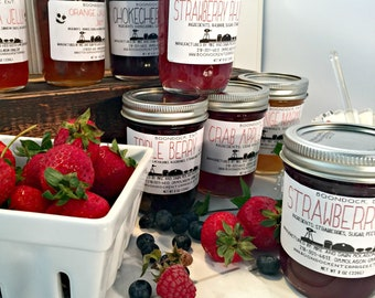 Homemade Jam, Jelly or Preserves - Choose from 40+ Flavors in 8 oz. Jars - Gourmet Gifts from Boondock Enterprises