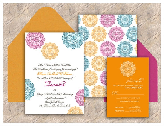 The Palini Chakra Collection Indian Wedding Invitation For