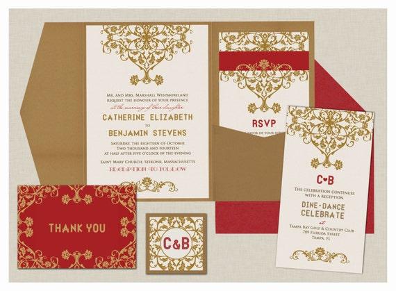 Royal Jaipur Collection Indian Wedding Invitations Etsy